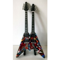 Miniatura kytary Music Legends PPT-MK037 Dave Mustaine Megadeth Gibson Double Neck Flying V