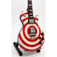 Miniatura kytary Music Legends PPT-MK051 Zakk Wylde Gibson Les Paul Bullseye White-Red